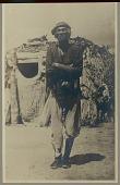 view Des-Chi-Ne, medicine man, outside hogan Copyright 03 DEC 1906 digital asset number 1