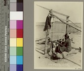 view Woman weaving blanket on vertical loom Copyright 04 MAY 1931 digital asset number 1