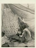 view Man painting figures on buffalo skin Copyright 15 NOV 1929 digital asset number 1