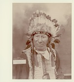 view Portrait of Chief American Horse wearing feather headdress Copyright 24 DEC 1906 digital asset number 1