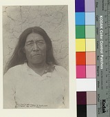 view Cacique in front of adobe wall Copyright 05 OCT 1892 digital asset number 1