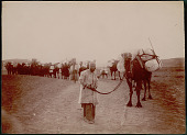 view Man in Costume with Camel Caravan on Road to Gilan Province 1900 digital asset number 1