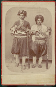 view Two Men in Costume with Gunbelts, Rifles, and Daggars n.d digital asset number 1