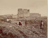 view Arabs in Costume, One Man with Rifle, Outside Ruins of Stone Building 1870 digital asset number 1