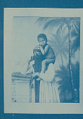 view Portrait of Veiled Woman in Costume with Male Child on Shoulders n.d digital asset number 1
