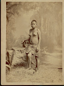 view Portrait of Woman Wearing Arrow Made from Bark of Caoutchouc Tree 1887 digital asset number 1