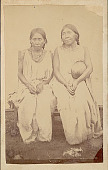view Portrait of Two Women in Costume, One with Gourd ? digital asset: Portrait of Two Women in Costume, One with Gourd ?