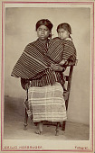view Portrait of Woman with Young Child from Tecpan, Chimaltenango Girl In Costume n.d digital asset number 1