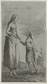 view French Woodcut After Antoine Simon Le Page Du Page, Histoire de La Louisiane, Paris, 1758, of Woman And Girl from Louisiana (Lower Mississippi Area) Wearing Limbourg Cloth Skirts and Footgear digital asset: French Woodcut After Antoine Simon Le Page Du Page, Histoire de La Louisiane, Paris, 1758, of Woman And Girl from Louisiana (Lower Mississippi Area) Wearing Limbourg Cloth Skirts and Footgear