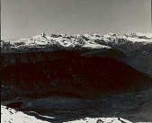 view View of Chima Karpo La Track from Bum La Lapache With Snow-Covered Mountains in Distance and Two Buddhist Cairns In Foreground 1954 digital asset number 1