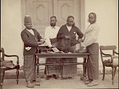 view Four Sinhalese gem merchants, undated digital asset number 1