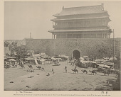 view Chien-Men (Front Gate) Into City; Group in Costume; Carts, And Camel Caravan Nearby n.d digital asset number 1