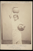 view Portrait of Girl, Tunny Gatchie, in Costume and Carrying Water Jars digital asset: Portrait of Girl, Tunny Gatchie, in Costume and Carrying Water Jars