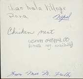 view Clay Chicken Nests Hanging from Rafters of Pole and Mud House with Thatch Roof 1965 digital asset number 1