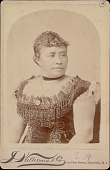 view Portrait of Queen Lydia Kamakaeha Dominis (Lilino Kalani) 1891 digital asset number 1