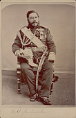 view Portrait of King David Kalakana in Royal Military Uniform And with Ornaments n.d digital asset number 1