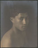 """view Portrait of """"Chinese-Hawaiian"""" boy, titled """"'The Fisher Boy"""" (front view) 1909 digital asset number 1"""