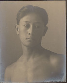 """view Portrait of Hawaiian boy titled """"The Athlete"""" (front view) 1909 digital asset number 1"""