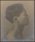 """view Portrait of Hawaiian boy titled """"The Athlete"""" (profile) 1909 digital asset number 1"""