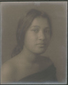 """view Portrait of """"French-Hawaiian"""" girl (front view) 1909 digital asset number 1"""