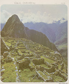 view View of Archaeological Site Showing Ruins of Stone Buildings And Mountains in Background 1968 digital asset number 1
