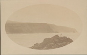 view View of Coastline with Man in Foreground DEC 1886 digital asset number 1