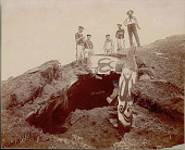 view Group of Men Removing Painted Stone Slabs from Ancient Subterranean Houses DEC 1886 digital asset number 1