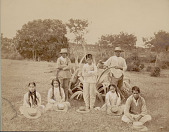 view Group in Costume Near Century Plant DEC 1886 digital asset number 1