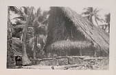 view Pole and Thatch-Peaked House on Stone Foundation n.d digital asset number 1