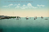 view Pearl Fishing Boats with Sails Near Coast; Wood Frame Houses Nearby digital asset: Pearl Fishing Boats with Sails Near Coast; Wood Frame Houses Nearby