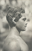 view Young Man with Ear and Hair Ornaments (Profile View) digital asset: Young Man with Ear and Hair Ornaments (Profile View)