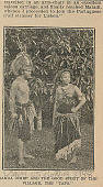 view Chief and Woman (Tapo, Good Spirit of the Village); Both In Costume and with Ornaments and Headgear digital asset: Chief and Woman (Tapo, Good Spirit of the Village); Both In Costume and with Ornaments and Headgear