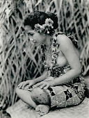 view Portrait of Taupo (Village Virgin) with Knee Tattoo, in Costume and with Ornaments 1925 digital asset number 1