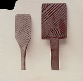 view Paddle, 2, Wood:with Incised Design:from Oceania 1886 digital asset number 1