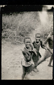 view Three Young Boys Wearing Breechcloths and Necklaces (Photo Taken from Train) 21 JAN 1925 digital asset number 1