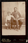 view Portrait of F. Z. S. Peregrino from Sierra Leone, Africa (Educated in England at Age 12; Later Resident of Pittsburg, Pa) With Young Boy (Possibly Son?) digital asset: Portrait of F. Z. S. Peregrino from Sierra Leone, Africa (Educated in England at Age 12; Later Resident of Pittsburg, Pa) With Young Boy (Possibly Son?)