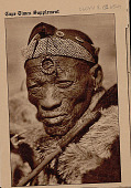 view Abraham, 106 Years Old, Bushman Patriarch of Southern Kalahari, In Costume and Holding Switch SEP 1936 digital asset number 1