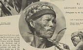 view Aged Bushman Wearing Sennec (Baboon) Skin Hat SEP 1936 digital asset number 1