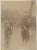 view Belgian Congo Husband with Wife Wearing 8 Pound Brass Collar; Both in Costume n.d digital asset number 1