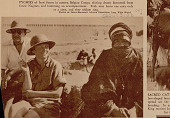view Leila Roosevelt and John Romspert, Mechanic, with King Of Tuaregs in Costume and Wearing French Legion of Honor Cross 1936 digital asset number 1