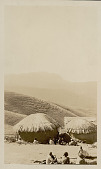 view Group in Costume in Village of Round Mud Houses with Thatch Roofs in Mountains n.d digital asset number 1