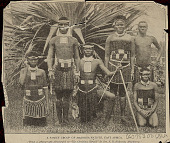view Family Group in Costume with Staffs? Near Palm-Like Plant n.d digital asset number 1