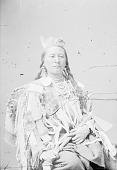 view Plenty Coups in Native Dress and Holding Pipe-tomahawk n.d digital asset number 1