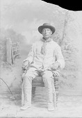 view Assiniboin man, Mni Otonwan or Looks into the water (Eyes in the Water) 1894 digital asset number 1