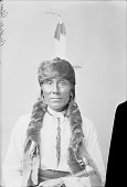 view Buffalo Ghost in Partial Native Dress with Headdress and Ornaments n.d digital asset number 1