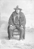 view Blackfoot? Man, Running Crane in Partial Native Dress with Ornaments Dec 29 1891 digital asset number 1