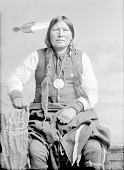 view Arapaho man, Scabby Bull in Partial Native Dress with Benjamin Harrison Peace Medal and Ornaments Nov 1891 digital asset number 1