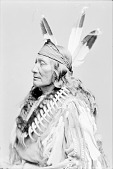view Arikara man, Rushing Bear in Native Dress with Bear Claw Necklacee 1880 digital asset number 1