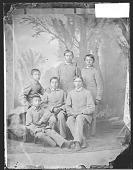 view Portrait of Group of Boys in School Uniform 1879 digital asset number 1