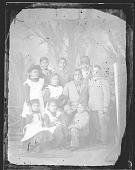 view Portrait of Man and Nine Children, Most in School Uniform 1879 digital asset number 1